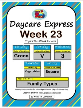 Daycare Curriculum (Week 23) Letter V, Shape Square, Color