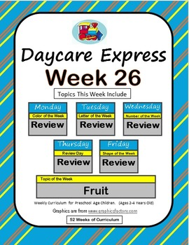 Daycare Curriculum (Week 26) Review Week, All Letters, Sha