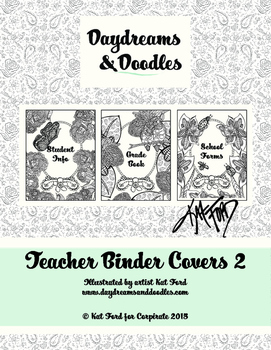 Teacher Binder Covers 2: Daydreams And Doodles