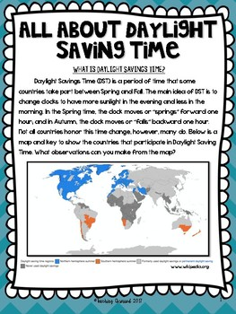 Daylight Saving Time Text Only (Upper Elementary)
