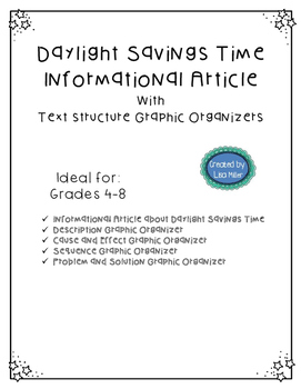 Daylight Savings Time Article and Text Structure Graphic O