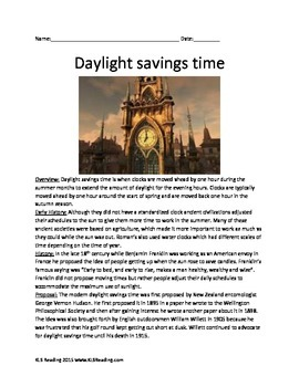 Daylight Savings Time - Review Article complete history fa