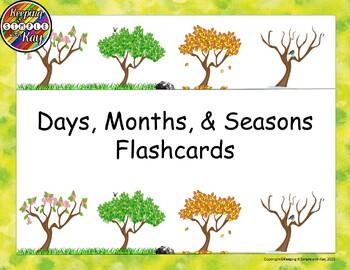 Days, Months, Seasons Flashcards