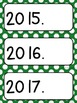 Days, Months, Years, and Dates~Editable  (primary polka-dots)
