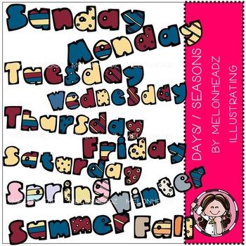 Melonheadz: Days / Seasons clip art