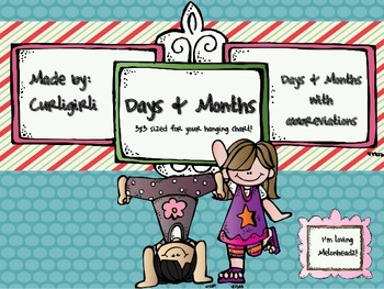 Days and Months-with Abbreviations