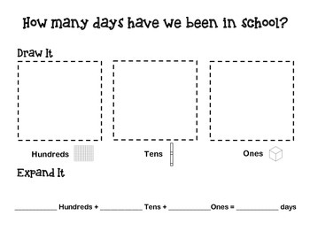 Days at School Place Value Mat