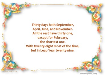 Days of The Month Mnemonic