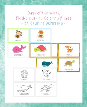 Days of the Week Flashcards for Circle Time