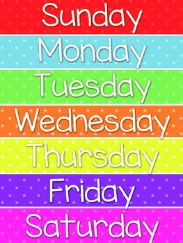 Days of the Week FREEBIE