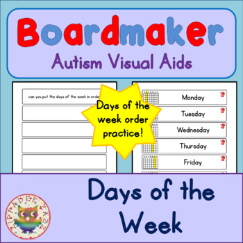 Days of the Week - Boardmaker Visual Aids for Autism