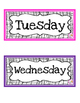 Days of the Week CARD