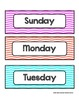 Days of the Week - Colorful Chevron - For Display and Cale
