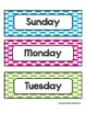 Days of the Week - Colorful Large Polka Dots - For Display