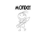 Days of the Week File Folder Labels