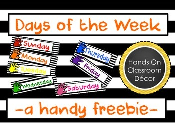 Days of the Week Hands