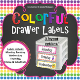 Organizational Draw Labels: Colorful!