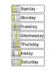 Days of the Week Order-Calendar Skills