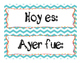 Days of the Week Poster in Spanish
