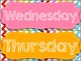 Rainbow Chevron Days of the Week Posters