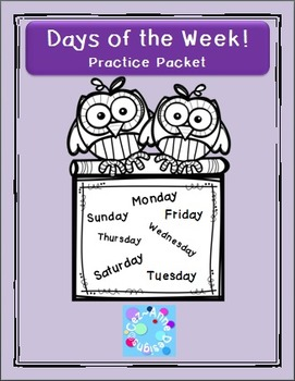 No Prep!!!  Days of the Week Practice Packet
