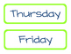 Days of the Week {Preppy Nautical Theme!}