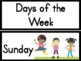 Days of the Week Posters and Signs for Word Walls