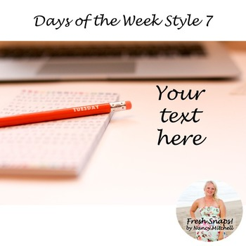 Days of the Week Styled Desk Image 7