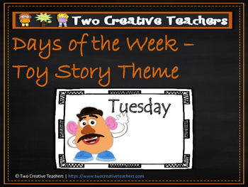 Days of the Week Toy Story Theme