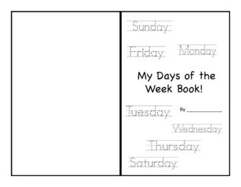 Days of the Week Workbook