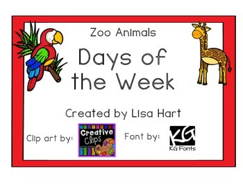 Days of the Week - Zoo Animals