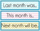 Calendar Days of the Week and Months