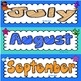 Days of the Week and Months of the Year Cards {Under the Sea}