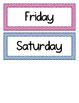 Days of the Week and Months of the Year - Chevron - Multicolored