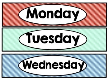 Days of the Week drawer labels!