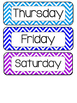 Days of the Week in Chevron