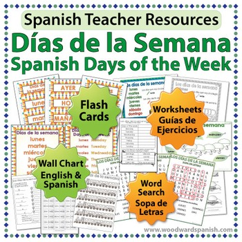 days of the week in spanish worksheets wall by woodward education teachers pay teachers. Black Bedroom Furniture Sets. Home Design Ideas