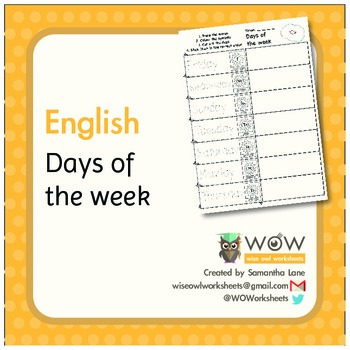 Days of the week - Colour, cut and rearrange worksheet