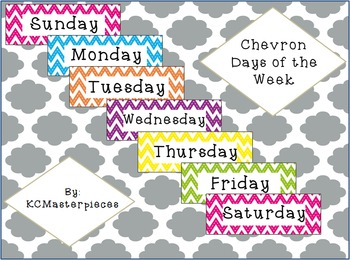 Chevron Days of the week Signs