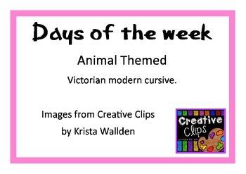 Days of the week - animal theme