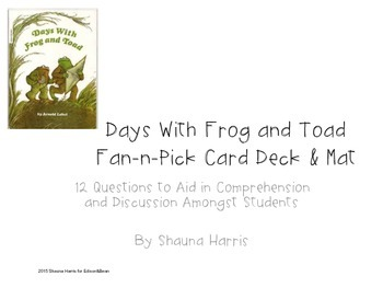 Days with Frog and Toad Fan and Pick Cards
