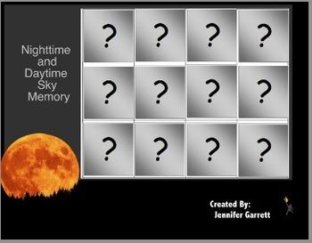 Daytime and Nighttime Matching Activinspire Chart