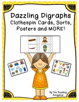 Dazzling Digraphs - Clothespin Cards, Sorts, Posters and M