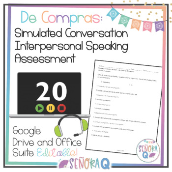 De Compras - Simulated Conversation Speaking Test (Script