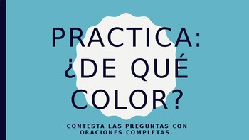 De Que Color Practica PPT