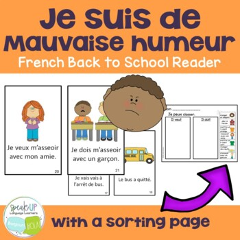 De mauvaise humeur French Back to School Reader & Sorting