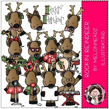 Melonheadz: Rockin Reindeer clip art - COMBO PACK
