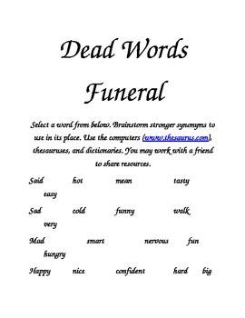 Dead Words Funeral