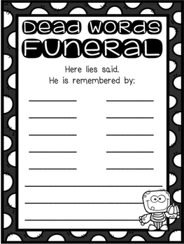 Dead Words Funeral : A Synonym Study