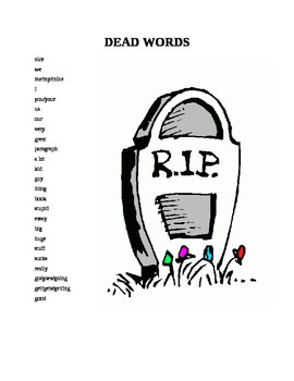 Dead Words List